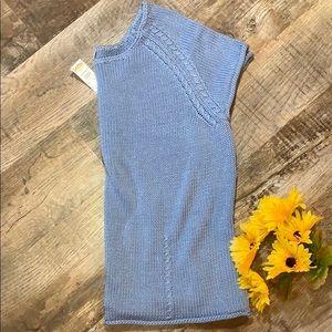 Talbots | Blue Mercerized Cotton Knit Blouse